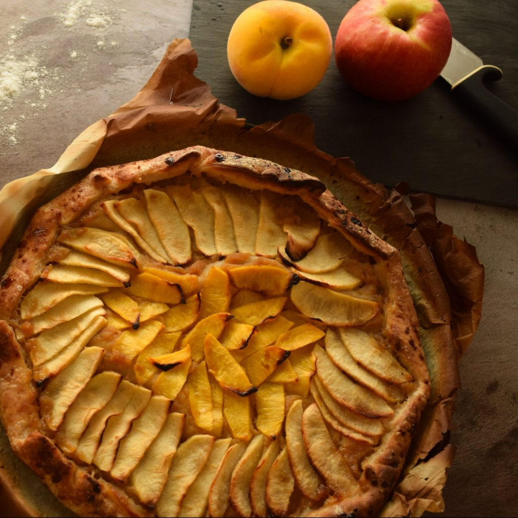 receta tarta de fruta saludable